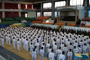 De hoofdvestiging van Kukkiwon in Seoel, Zuid-Korea