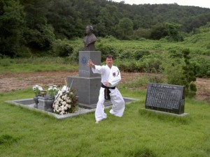 het graf van Myung Jae Nam, oprichter van de Internationale Hapkido Federatie/IHF